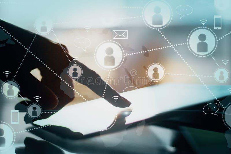 Conceito social da rede e da comunica??o foto de stock