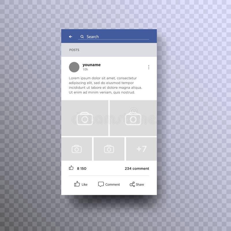 Conceito social da relação da página no vetor móvel ilustração stock