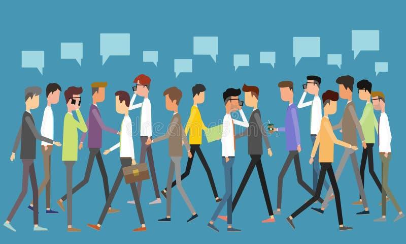 Conceito social de uma comunicação empresarial ilustração do vetor
