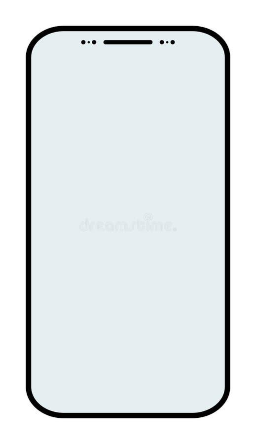 Conceito social do ícone da rede Notificação das mensagens do bate-papo do vetor no smartphone ilustração royalty free