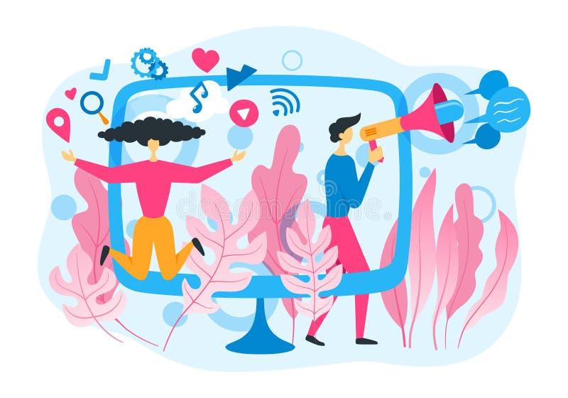 conceito social do mercado ilustração royalty free