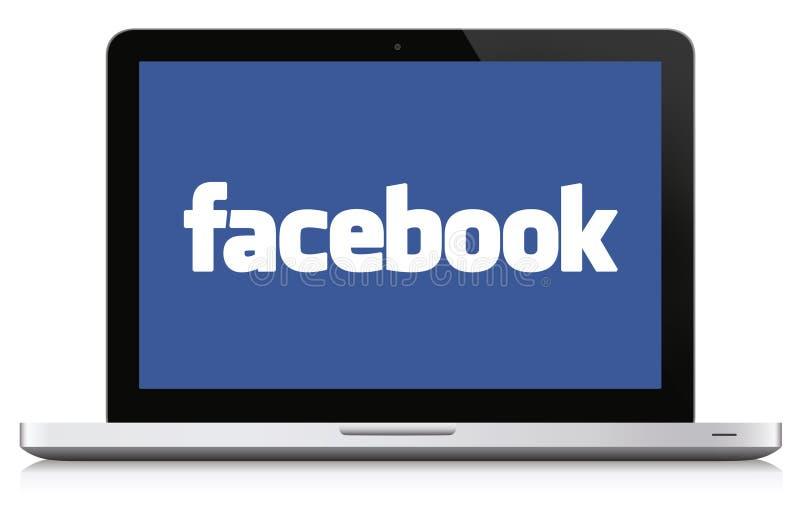 Conceito social dos meios de Facebook ilustração stock