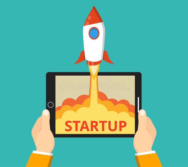 Conceito startup bem sucedido do negócio imagem de stock royalty free