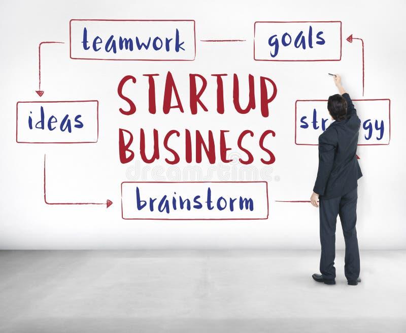 Conceito Startup das ideias do empreendimento do negócio foto de stock royalty free