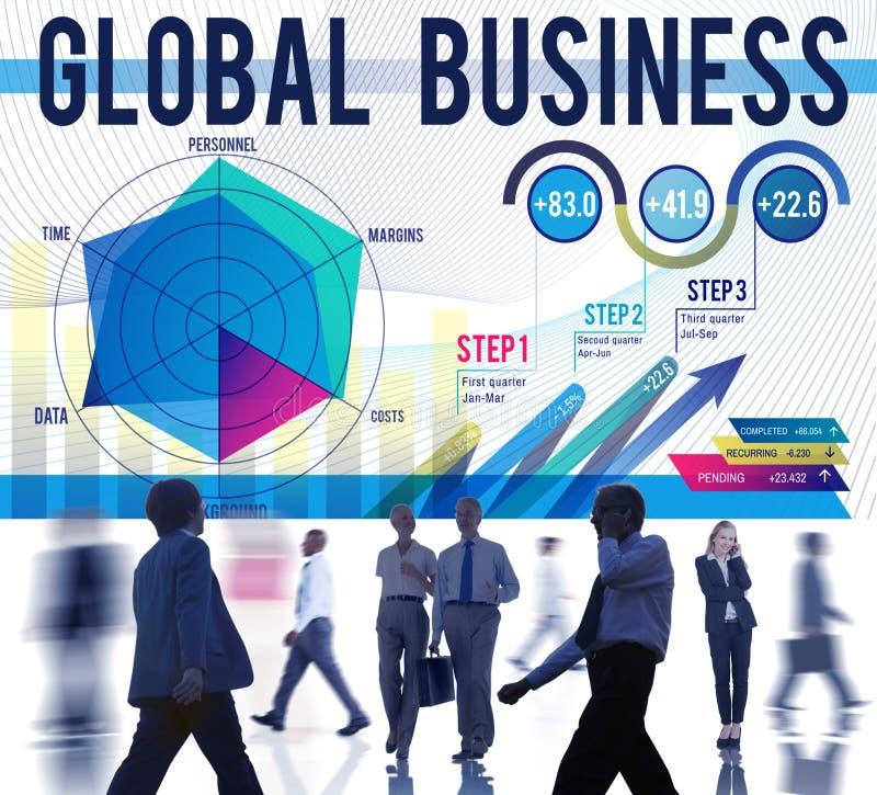 Conceito Startup do crescimento da estratégia empresarial global fotografia de stock royalty free