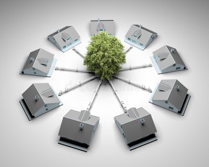 Conceito sustentável da energia