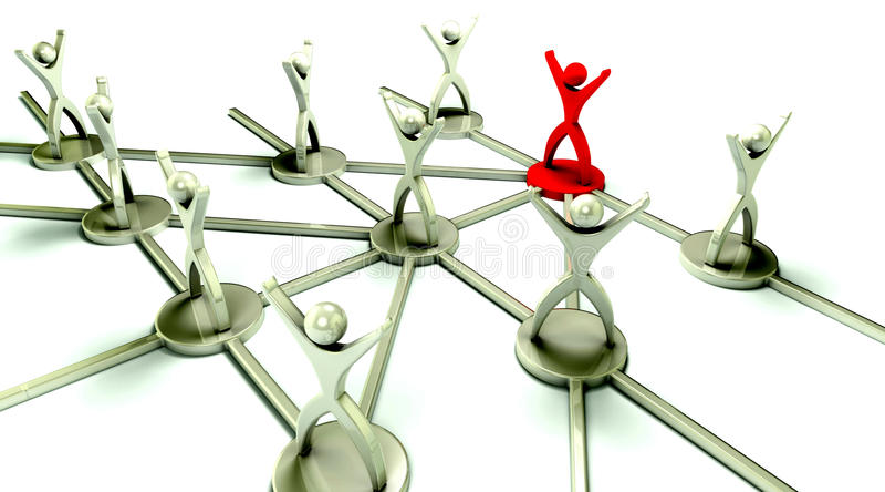 Conceito Team Network com líder ilustração do vetor