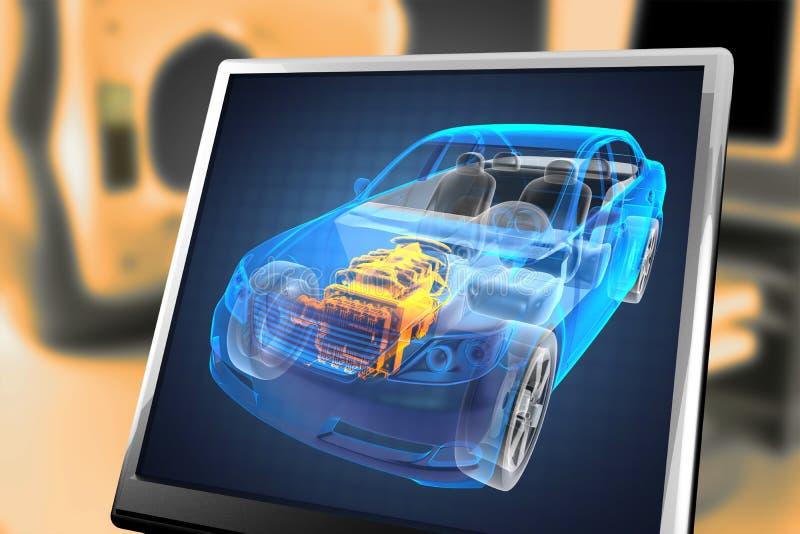 Conceito transparente do carro ilustração stock
