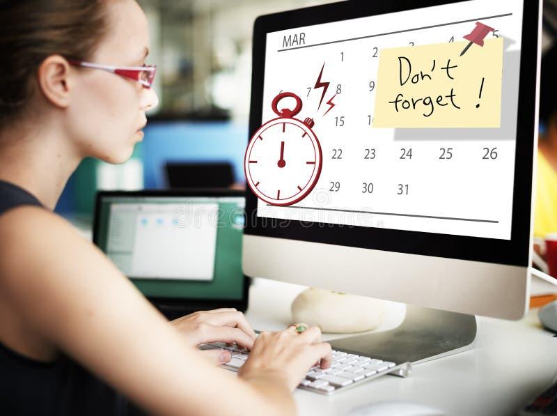 Conceito urgente do planejador do planeamento do cronômetro do tempo fotos de stock