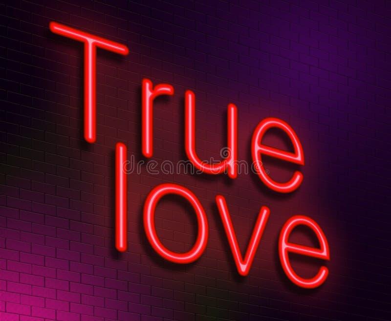 Conceito verdadeiro do amor. ilustração royalty free
