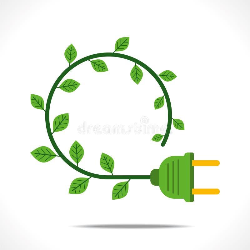 Conceito verde criativo da energia ilustração do vetor