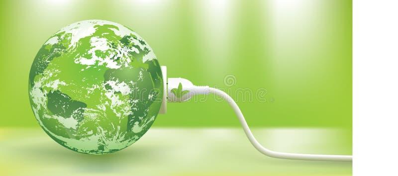 Conceito verde da energia ilustração stock