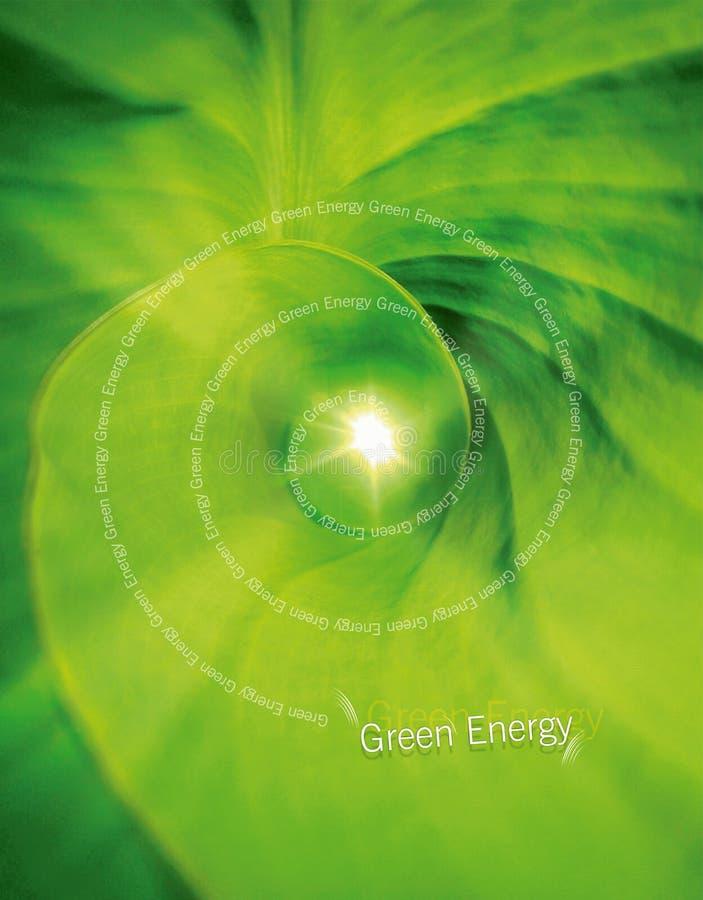 Conceito verde da energia ilustração royalty free