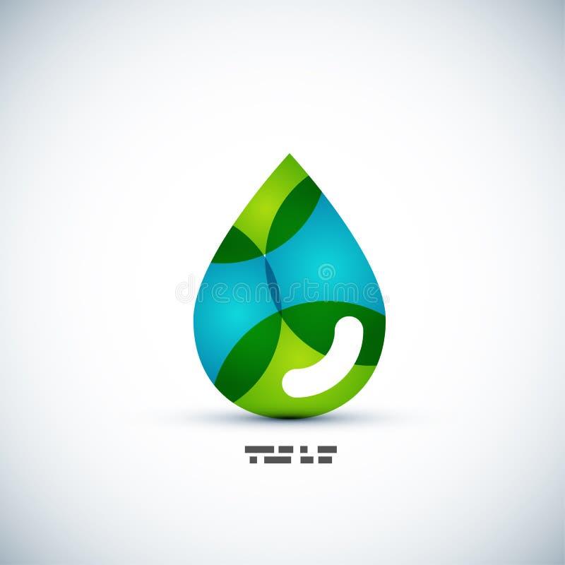 Conceito verde da gota da água do eco ilustração royalty free