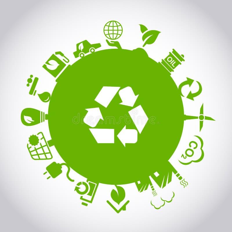 Conceito verde do ambiente ECO ilustração do vetor
