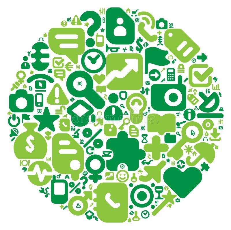 Conceito verde do mundo humano ilustração royalty free