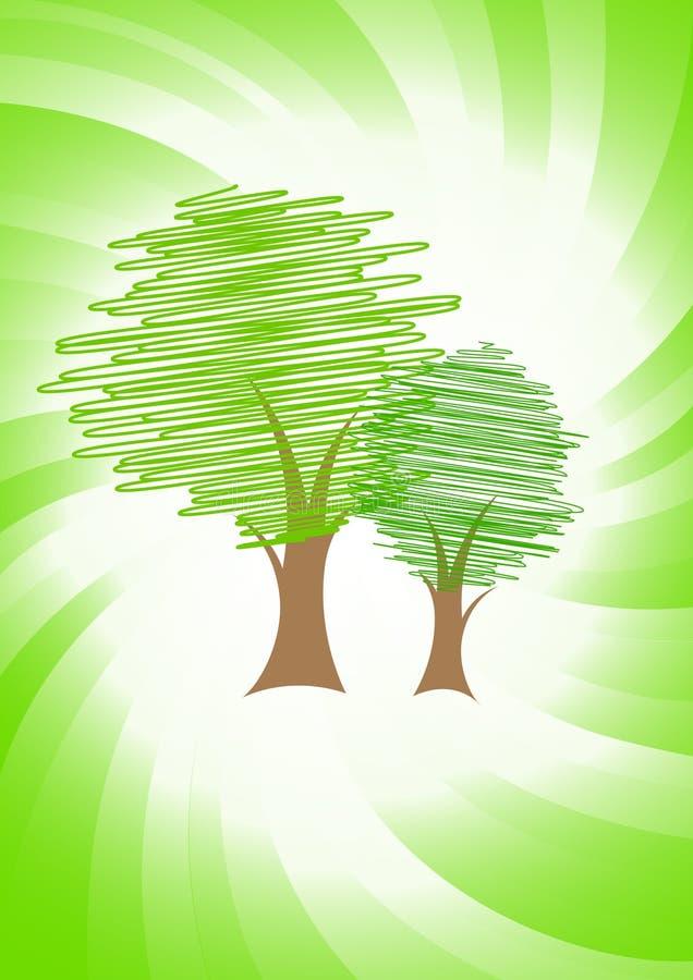 Conceito verde do vetor ilustração stock