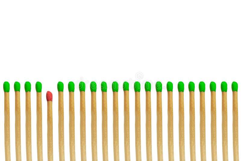 Conceito vermelho do vencido do matchstick foto de stock