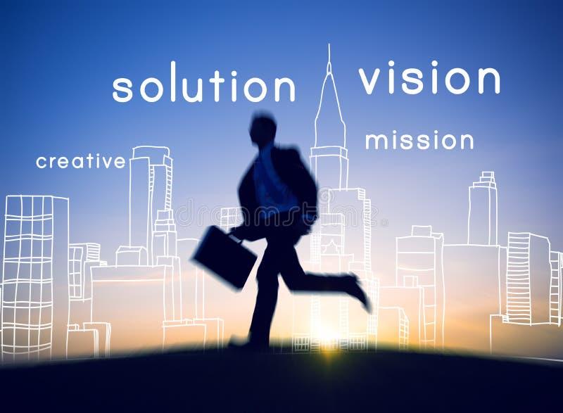 Conceito visionário da ambição da faculdade criadora da ideia de Visional da visão imagem de stock