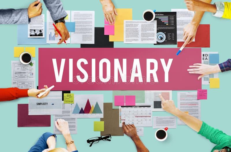Conceito visionário da imaginação da faculdade criadora das aspirações imagem de stock royalty free