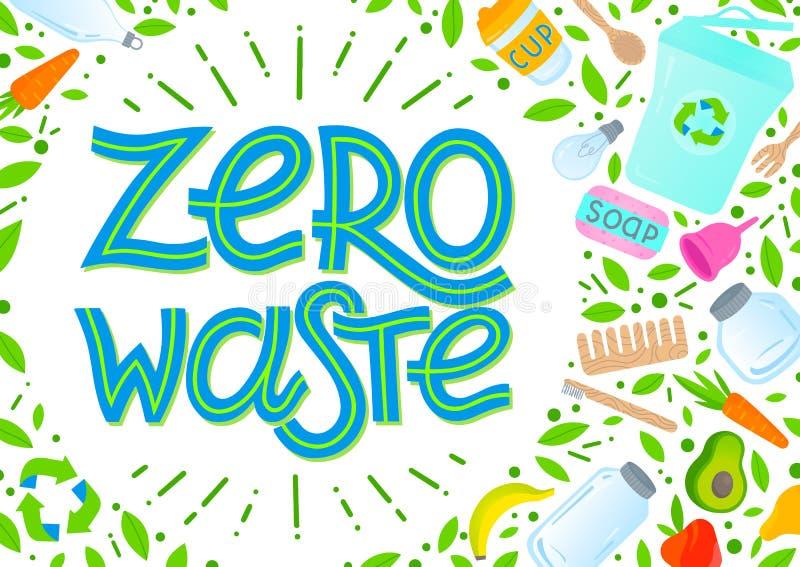 Conceito waste zero ilustração do vetor