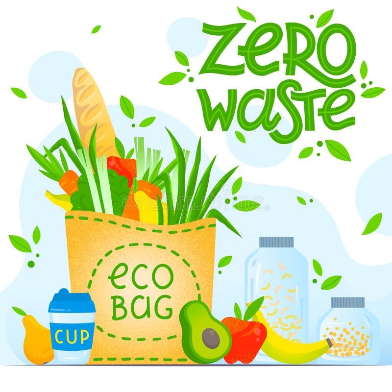 Conceito waste zero ilustração stock