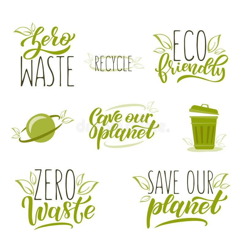 Conceito waste zero ilustração royalty free