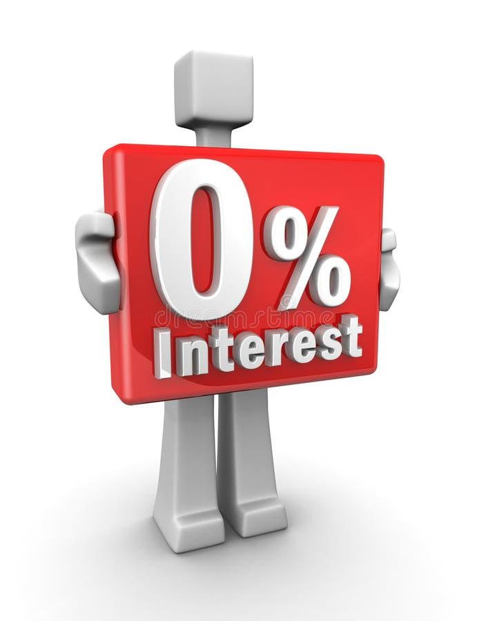Conceito zero do negócio do interesse ilustração do vetor
