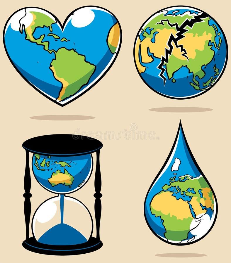 Conceitos 2 da ecologia ilustração stock