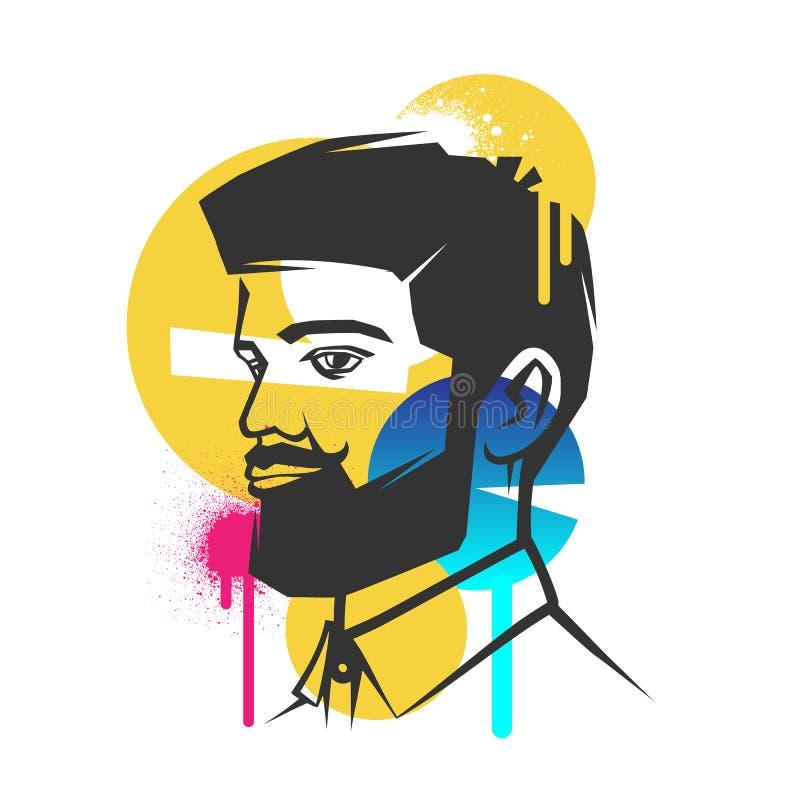 Conceitos criativos de uma cara ilustração royalty free