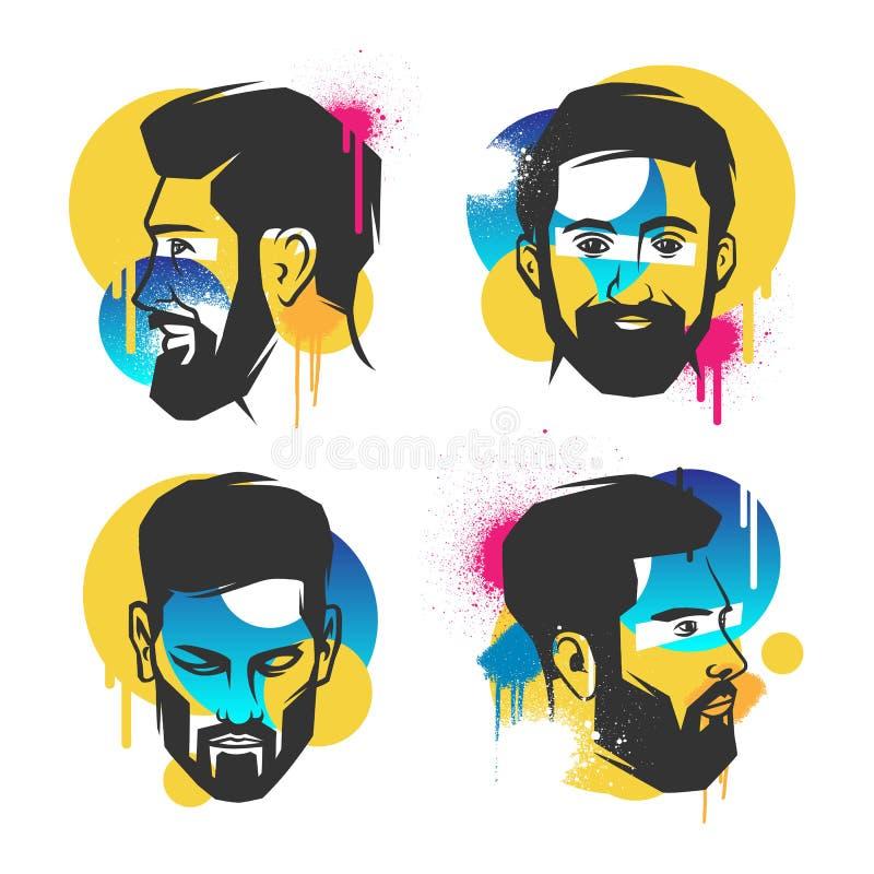 Conceitos criativos de uma cara ilustração do vetor