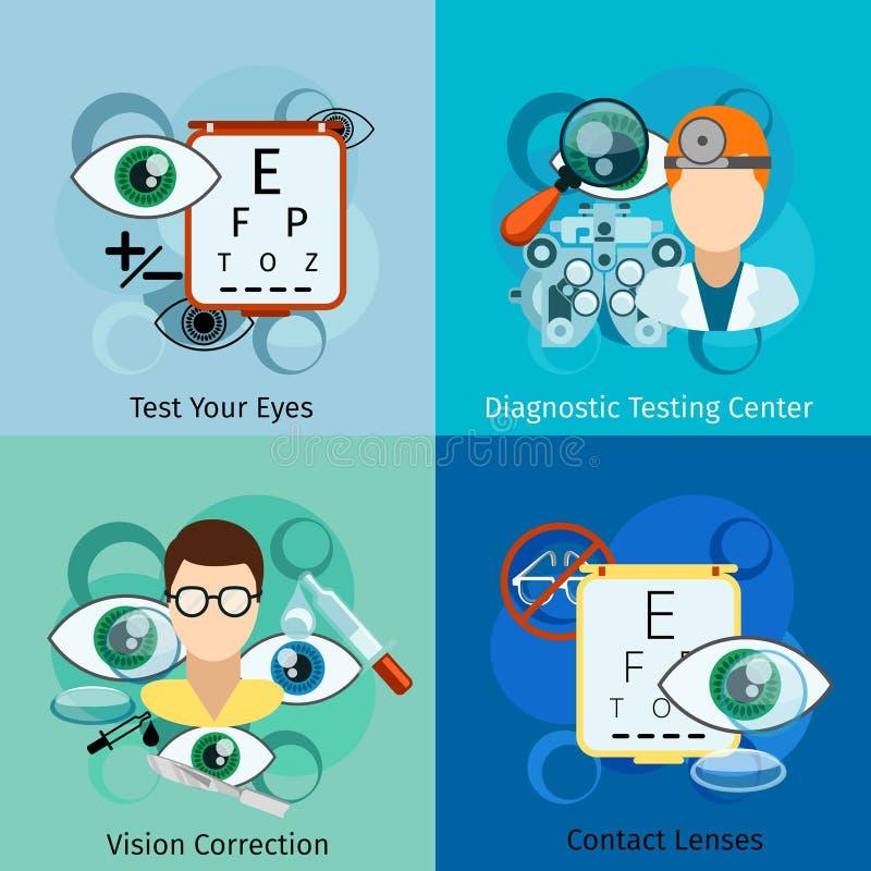 Conceitos da oftalmologia ilustração do vetor