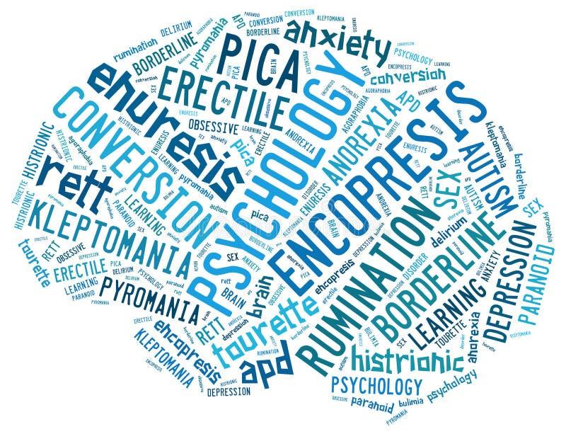 Conceitos da psicologia ilustração do vetor