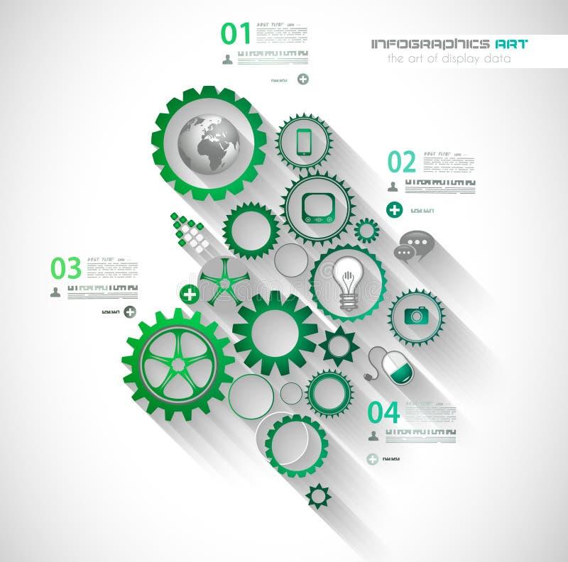 Conceitos de projeto lisos de UI para o infographics original ilustração do vetor