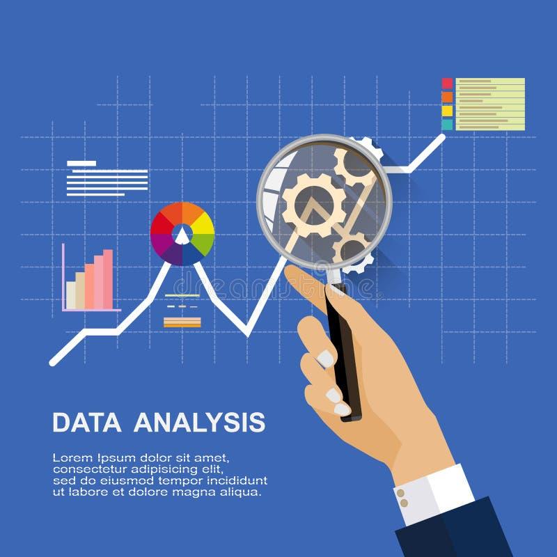 Conceitos de projeto lisos para examinar Exame do auditor do relatório financeiro ilustração stock