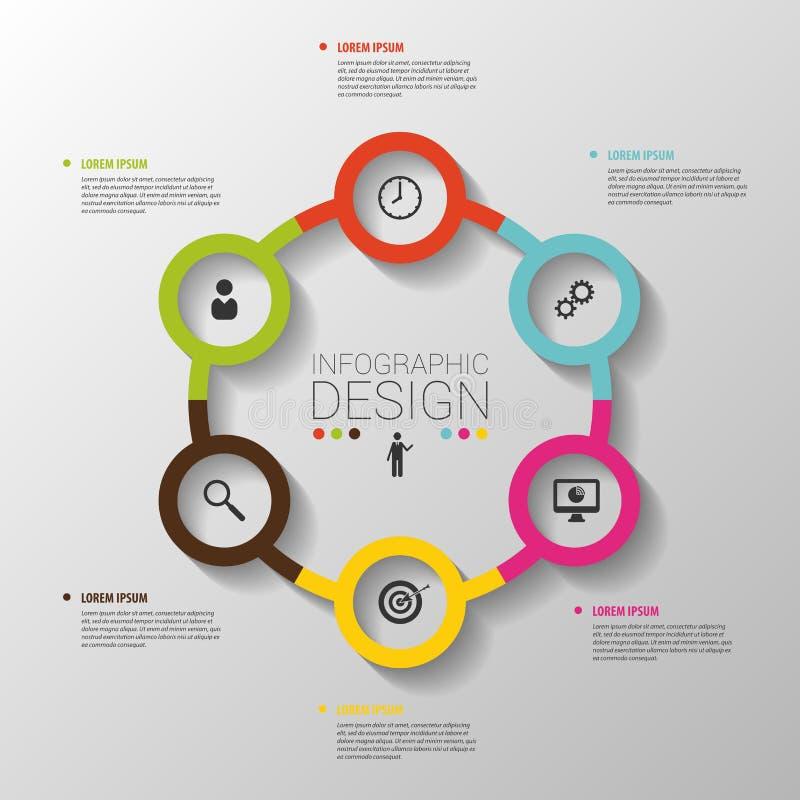 Conceitos do negócio do círculo com ícones molde Vetor ilustração do vetor