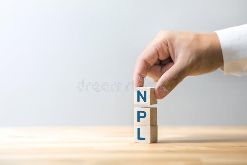 Conceitos financeiros e bancários com dívida NPL no mercado de negócios estratégia e solução gestão em crise fotografia de stock