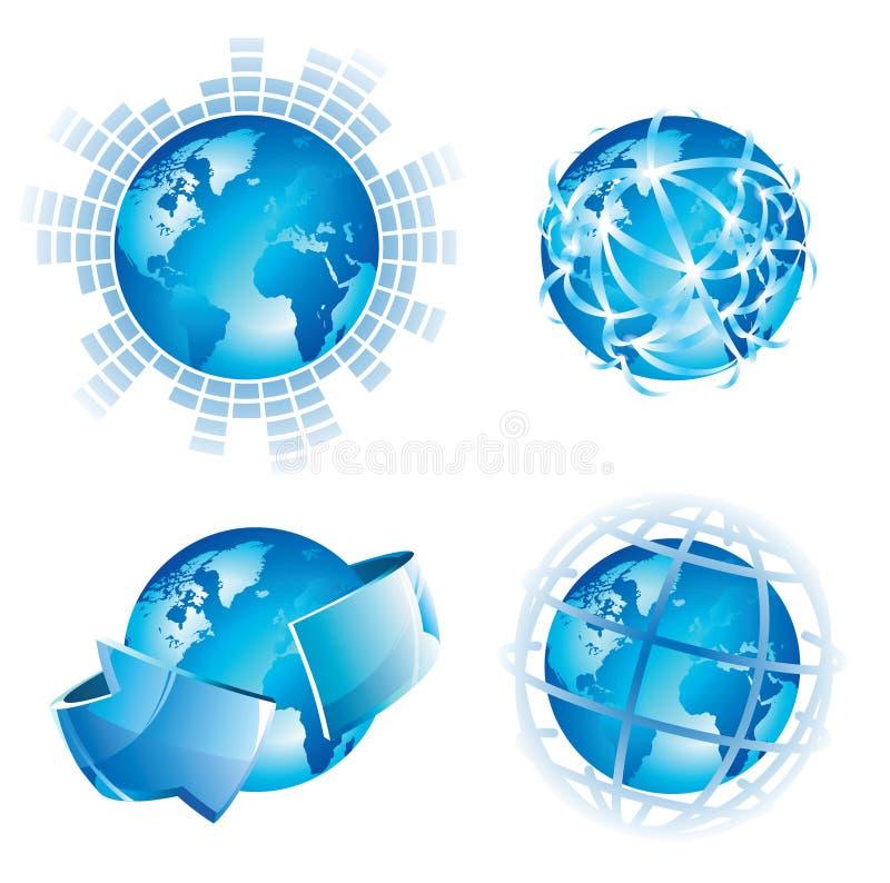 Conceitos globais ilustração royalty free