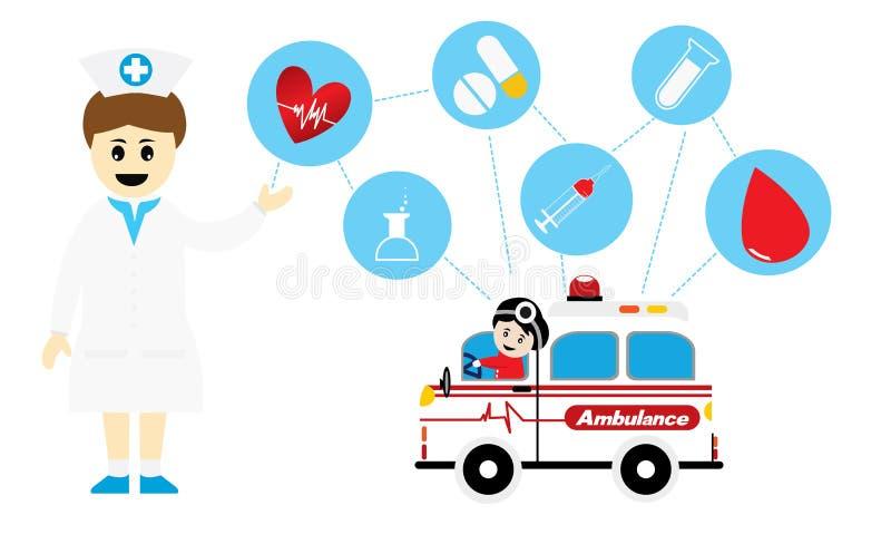 Conceitos médicos do caráter ilustração royalty free