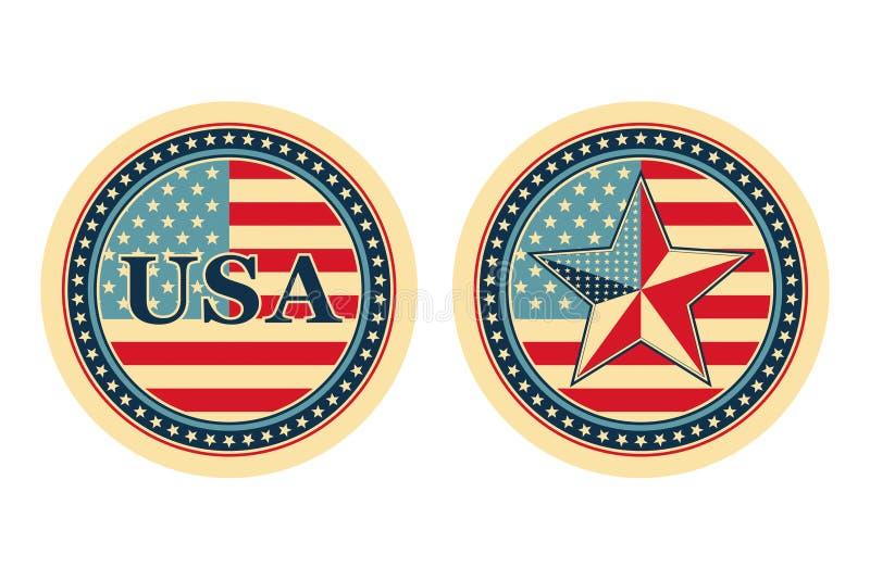 Conceitos nacionais dos EUA ilustração do vetor