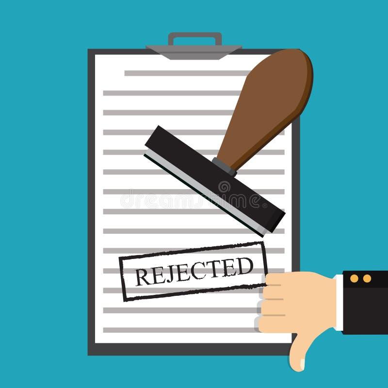 Conceitos rejeitados da aplicação Ilustração do vetor Doc rejeitado ilustração do vetor