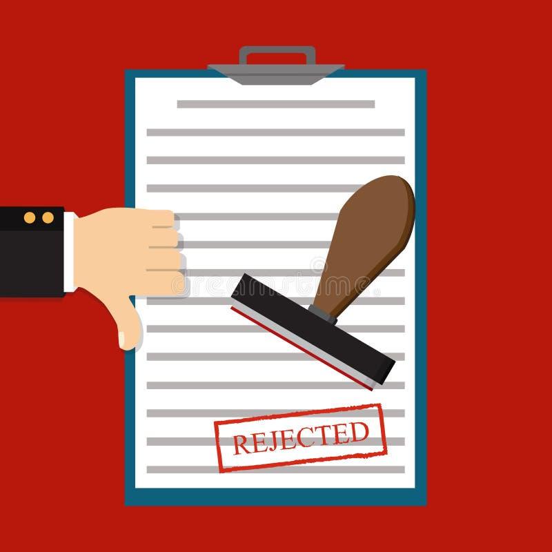 Conceitos rejeitados da aplicação Ilustração do vetor rejeitado ilustração royalty free