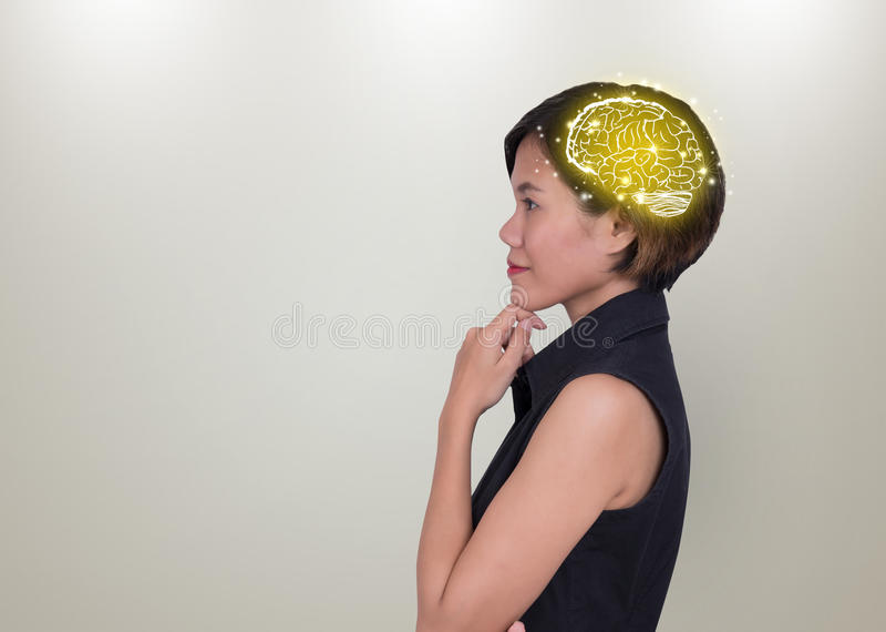 Conceituar das mulheres de negócios conceito para ideias novas foto de stock