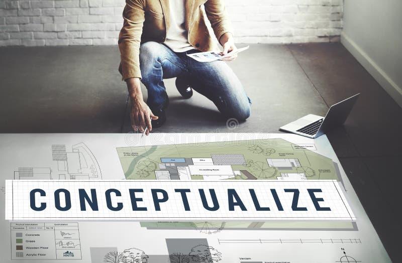 Conceitue o conceito da intenção do plano da imaginação criativa das ideias imagens de stock royalty free