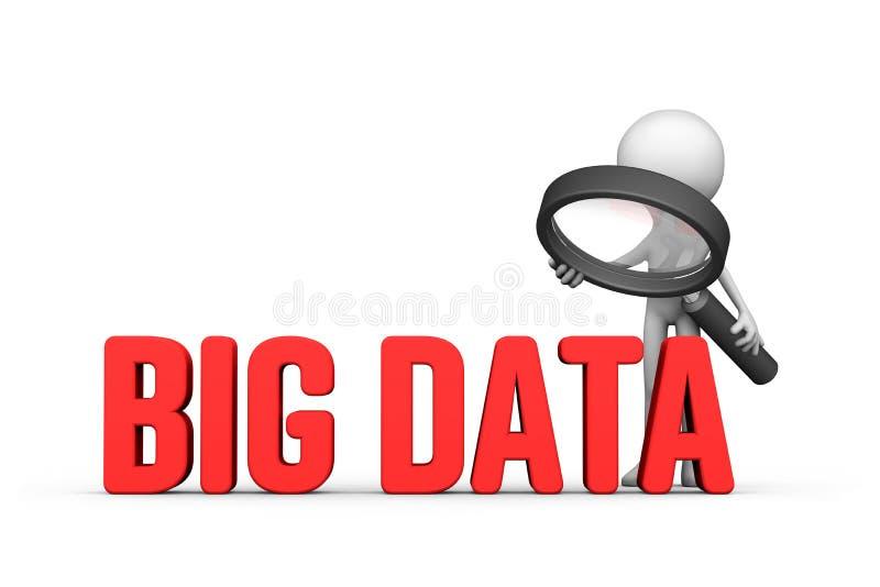 Concentré sur le grand concept de données illustration libre de droits