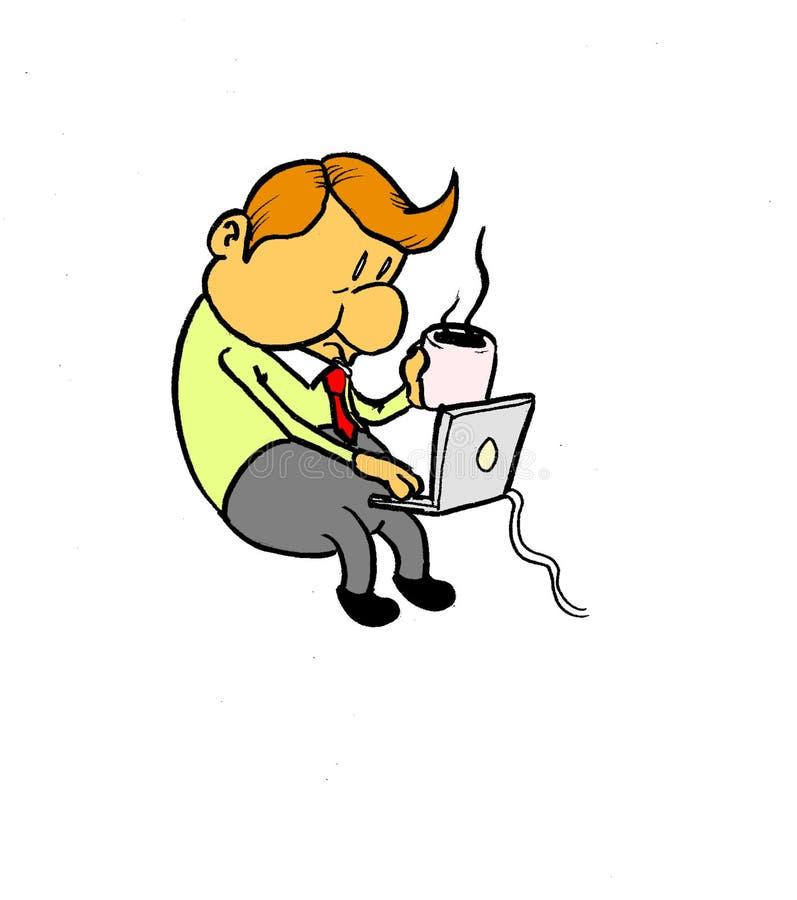 Concentração ilustração royalty free