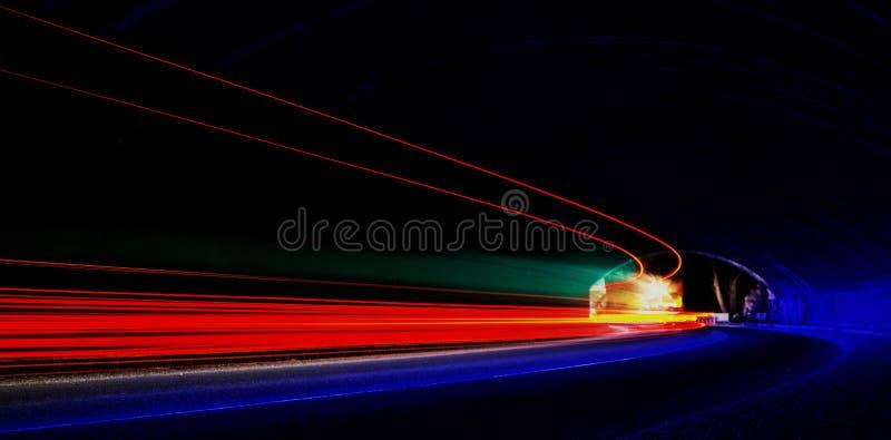 Concentração abstrata e interessante da arte de luzes fotografia de stock royalty free