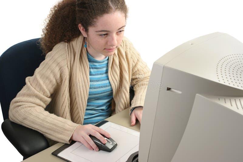 Concentração no computador imagens de stock