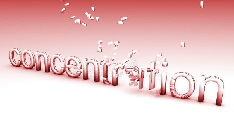Concentração quebrada ilustração royalty free