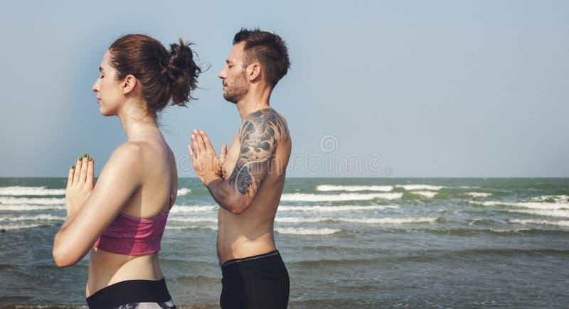 Concentración Serene Relaxation Concept pacífico de la meditación de la yoga foto de archivo libre de regalías
